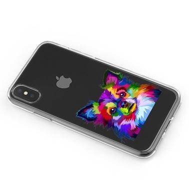 Lopard iPhone Xs Max Kılıf Silikon Arka Koruma Kapak Renkli Köpek Desenli Renkli